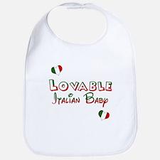 Lovable Italian Baby Bib