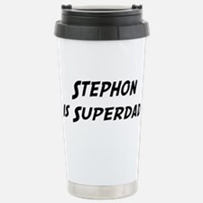 Stephon is Superdad Stainless Steel Travel Mug
