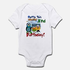 Space Critters 3rd Birthday Infant Creeper