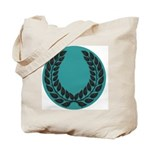 Teal with Black Tote Bag