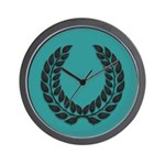 Teal with Black Wall Clock