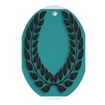 Teal with Black Oval Ornament