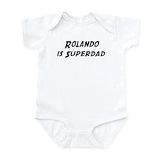 Rolando is Superdad Infant Bodysuit