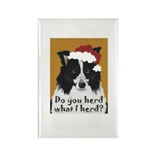 Border Collie DO YOU HERD? Rectangle Magnet