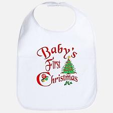 Bab's First Christmas Bib