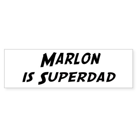 Marlon is Superdad Bumper Sticker