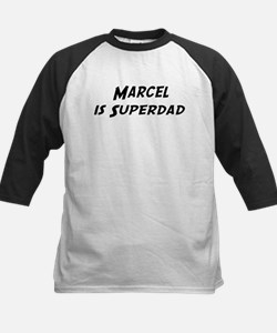 Marcel is Superdad Kids Baseball Jersey