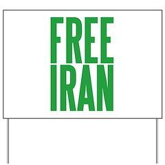 FREE IRAN Yard Sign