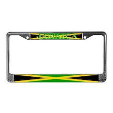 Jamaica Jamaican Blank Flag License Plate Frame