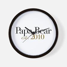 New Papa Bear 2010 Wall Clock