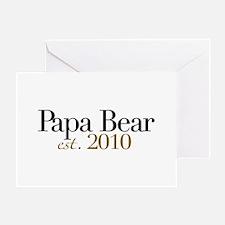 New Papa Bear 2010 Greeting Card