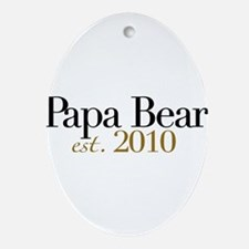 New Papa Bear 2010 Oval Ornament