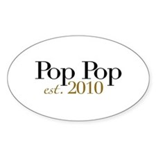 New Pop Pop 2010 Oval Decal
