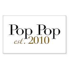 New Pop Pop 2010 Rectangle Decal