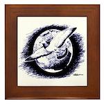 Earth Homer Pigeon Framed Tile