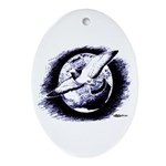 Earth Homer Pigeon Oval Ornament