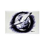 Earth Homer Pigeon Rectangle Magnet