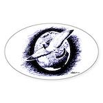 Earth Homer Pigeon Oval Sticker