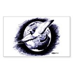 Earth Homer Pigeon Rectangle Sticker