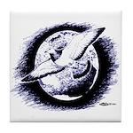Earth Homer Pigeon Tile Coaster