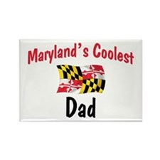 Coolest Maryland Dad Rectangle Magnet