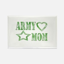 Army Mom Heart/Star Rectangle Magnet