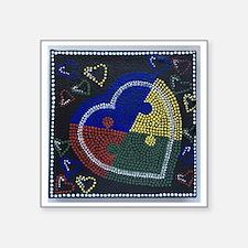 """Unique Autism black Square Sticker 3"""" x 3"""""""