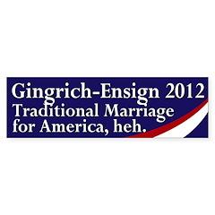 Gingrich-Ensign 2012 Bumper Bumper Sticker
