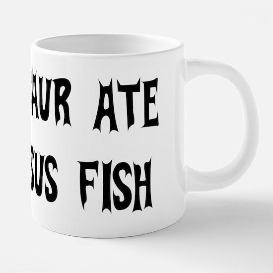 dinosaur_jesus_fish01.png 20 oz Ceramic Mega Mug