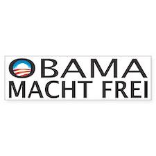 OBAMA MACHT FREI Bumper Bumper Sticker