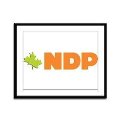 NDP Framed Panel Print