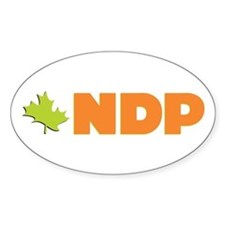 NDP Oval Bumper Stickers