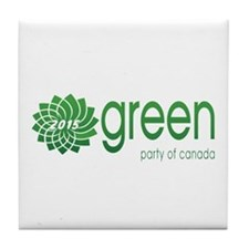 Green Party 2015 Tile Coaster