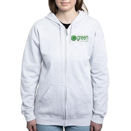 Green Party of Canada Women's Zip Hoodie