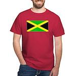 Jamaica Jamaican Blank Flag Red T-Shirt