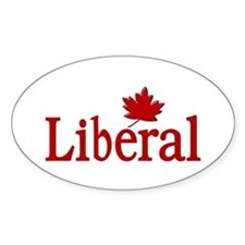 Liberal Party Of Canada Oval Decal