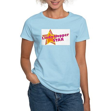Lindy Hopper Star Women's Pink T-Shirt