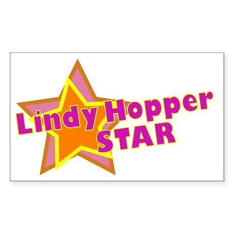 Lindy Hopper Star Rectangle Sticker