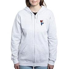 Rosie the Riveter Zip Hoodie