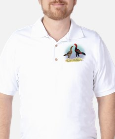 Malay Rooster and Hen Golf Shirt