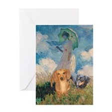 Walk Doxies Greeting Card