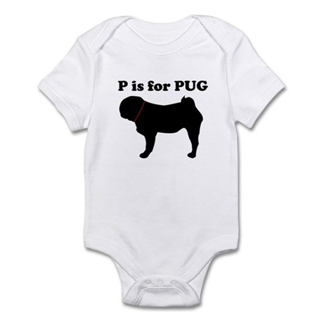 P is for PUG Infant Creeper
