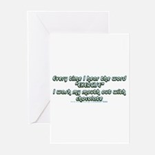 Dirty Word Greeting Cards (Pk of 10)