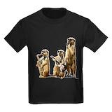 Meerkat Kids T-shirts (Dark)