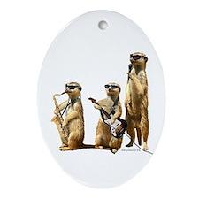 Meerkat Trio2 Oval Ornament