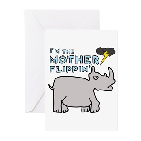 Motherflippin' Greeting Cards (Pk of 20)