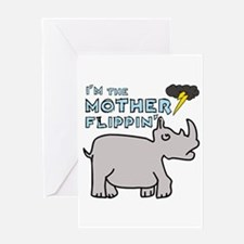 Motherflippin' Greeting Card