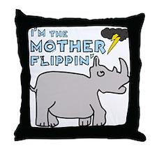 Motherflippin' Throw Pillow