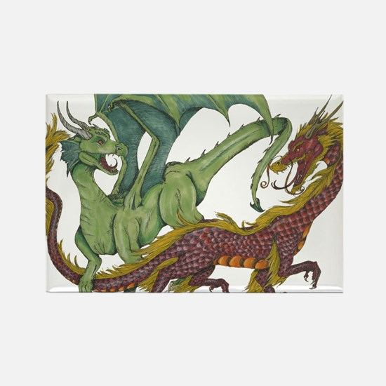 Cool Dragon lovers Rectangle Magnet