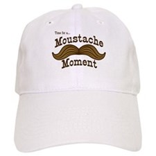 Time For A Moustache Moment Baseball Cap
